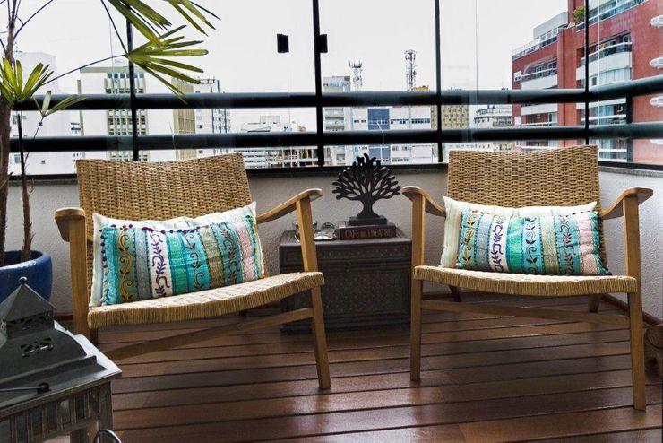 ArchDesign STUDIO Eclectic style balcony, veranda & terrace
