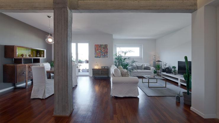 Appartamento ad Ostiense - Roma Archifacturing Soggiorno moderno