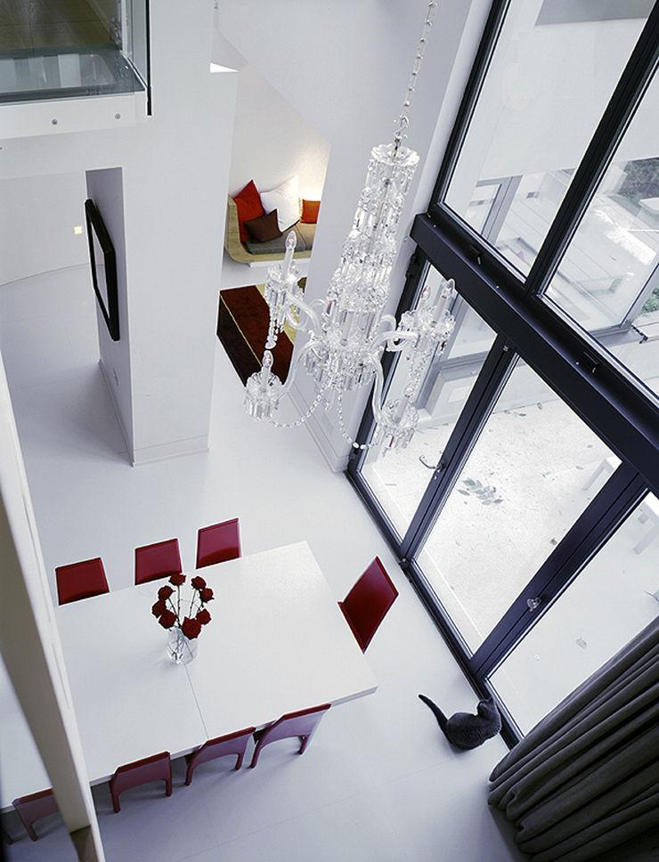 Thurlow Road 2 KSR Architects Minimalist dining room