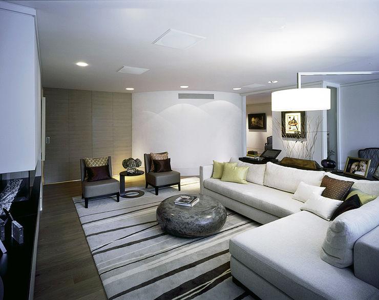 Thurlow Road 2 KSR Architects Modern Living Room