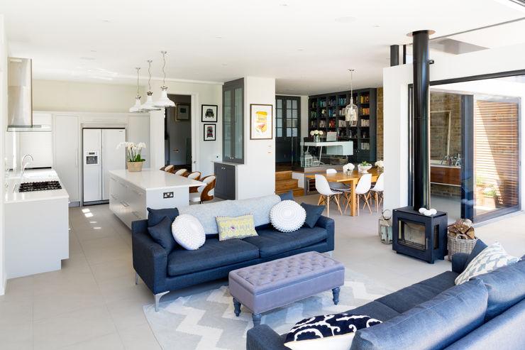 Broadgates Road Granit Architects Salas de estilo moderno