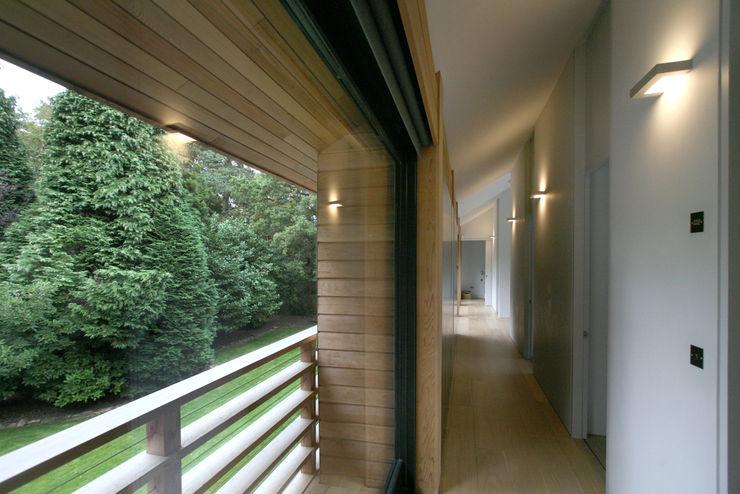 Cedarwood Tye Architects Eclectic style corridor, hallway & stairs