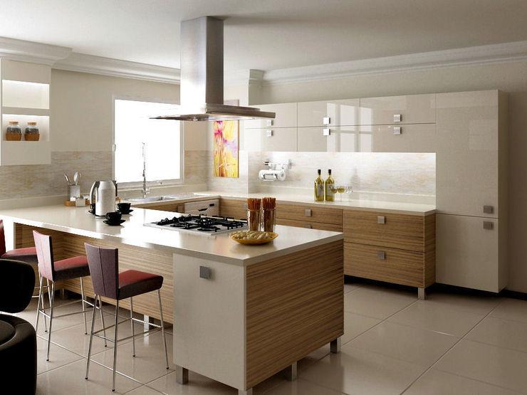 levent tekin iç mimarlık 廚房收納櫃與書櫃