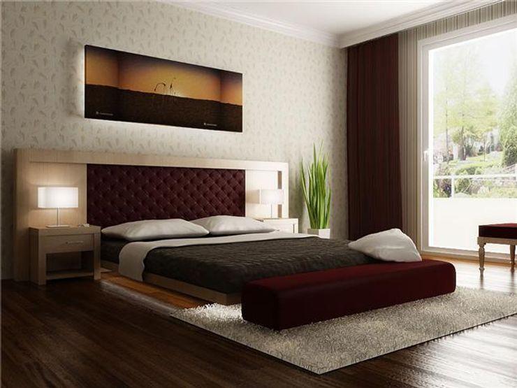 levent tekin iç mimarlık 臥室床與床頭櫃