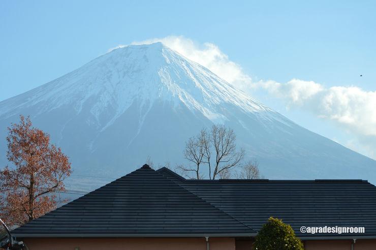 すぐそこに、手の届きそうな富士を見る。 アグラ設計室一級建築士事務所 agra design room モダンな 家