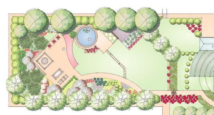 Landscape master plan homify Giardino moderno