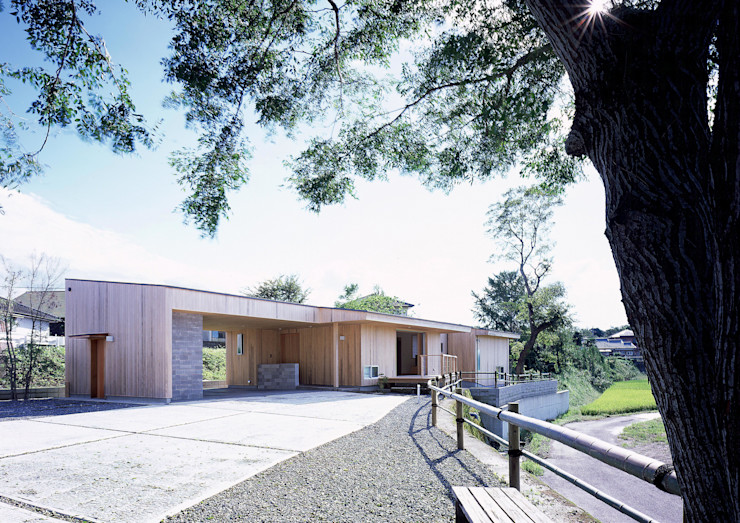 北東側外観 ㈱ライフ建築設計事務所 モダンな 家