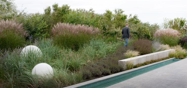 Natuurlijk overgang naar aangrenzend duinlandschap Andrew van Egmond (ontwerp van tuin en landschap) Moderne tuinen