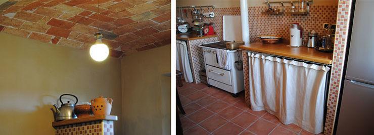 Un cascina naturale P.S.Studio - progettazione sostenibile Cucina rurale