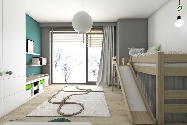 BAGUA Pracownia Architektury Wnętrz Modern nursery/kids room