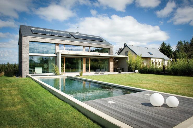 Freistehendes modernes Passivhaus Maisons Loginter Passivhaus