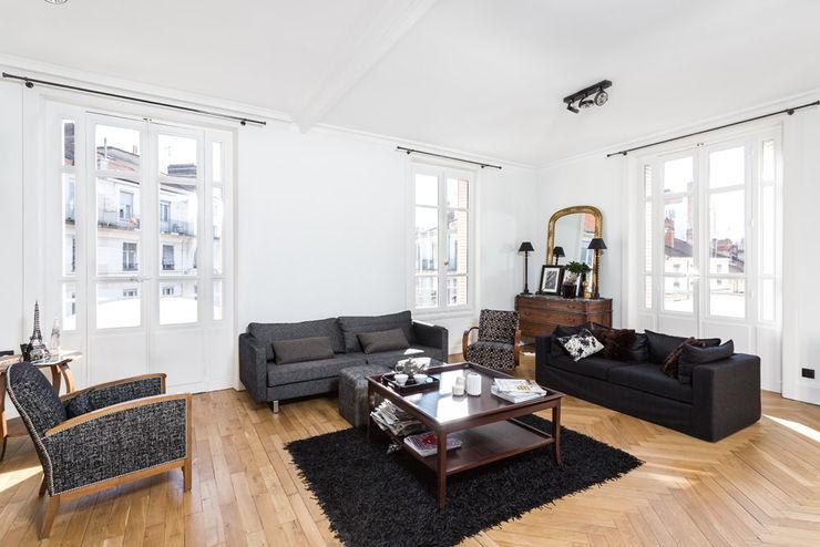 Rénovation d'un appartement à Lyon 6e homify Salon classique