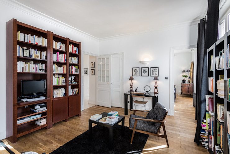 Rénovation d'un appartement à Lyon 6e homify Bureau classique
