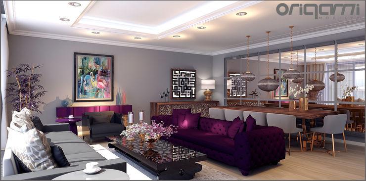 Koru Florya Salon Tasarımı Origami Mobilya Eklektik Oturma Odası