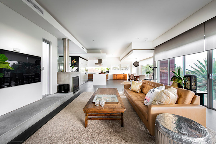 Open plan living room D-Max Photography Modern living room