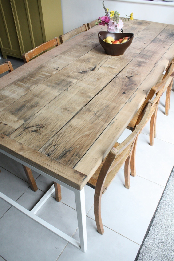 Deben Dining table in reclaimed French oak Salvation Furniture ЇдальняТаблиці