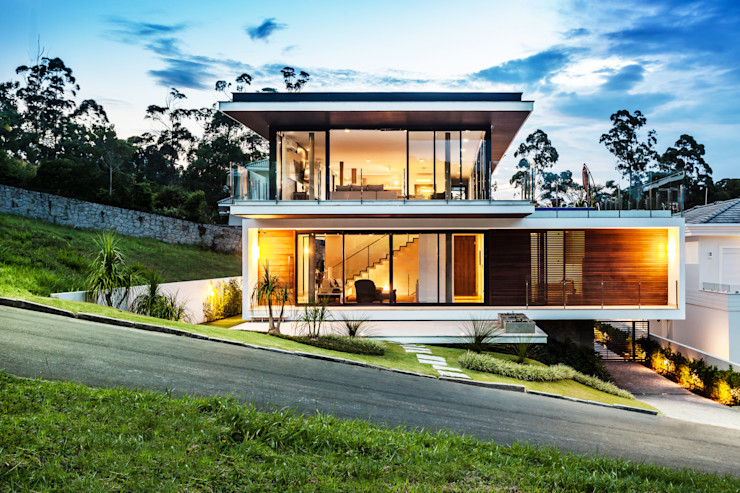 Vista frontal homify Casas modernas