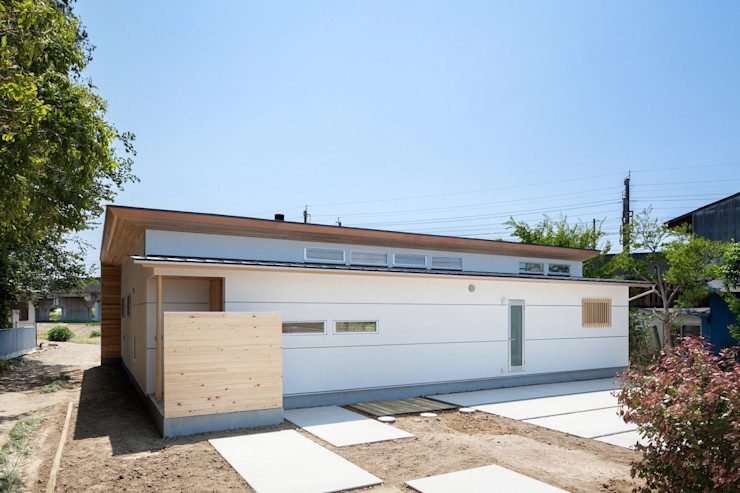 A House In The Fields 株式会社 中山秀樹建築デザイン事務所 Modern houses