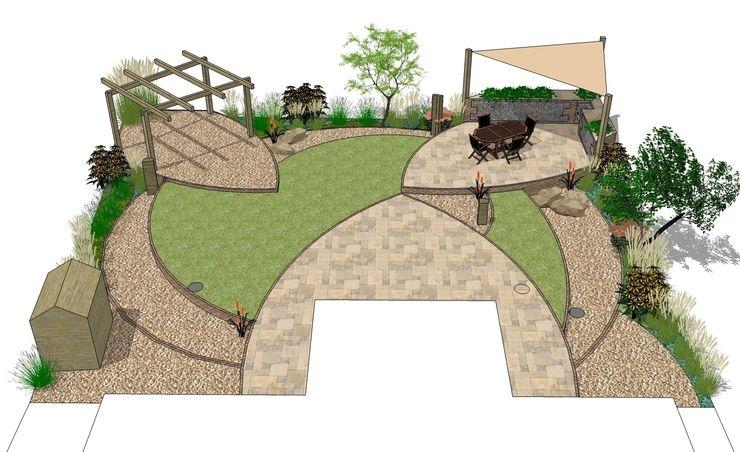 Master Plan for Garden Design of Seaside Style Garden Borrowed Space Giardino moderno