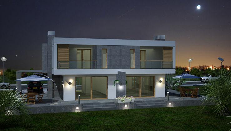 TARKAN OKTAY MİMARLIK Minimalist houses