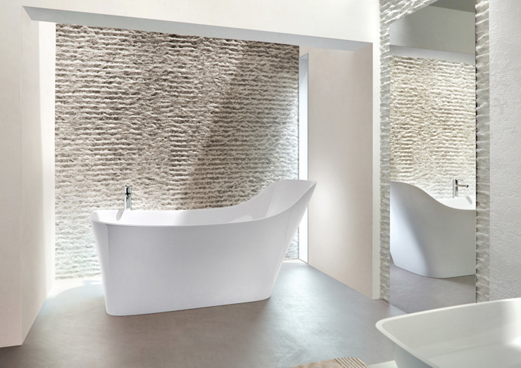 Natural Stone Bath - Nebbia Designed For Human Form Clearwater Baths BathroomBathtubs & showers