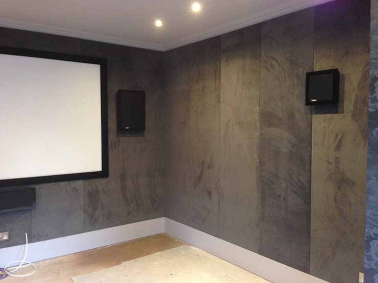 Fabric wall panels Designer Vision and Sound: Bespoke Cabinet Making Multimedia roomAccessories & decoration