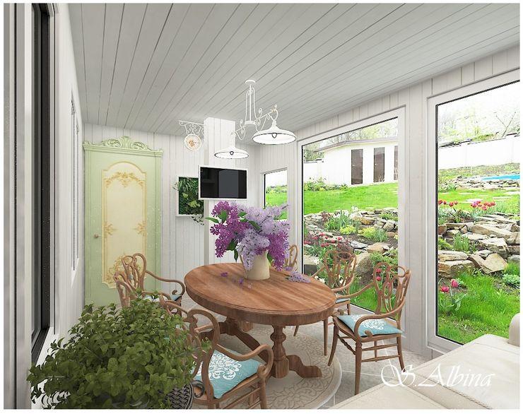 студия авторского дизайна Альбины Сибагатулиной Balcones y terrazas de estilo escandinavo