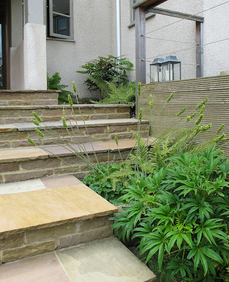 Stone Steps and paved treads Katherine Roper Landscape & Garden Design Modern Garden