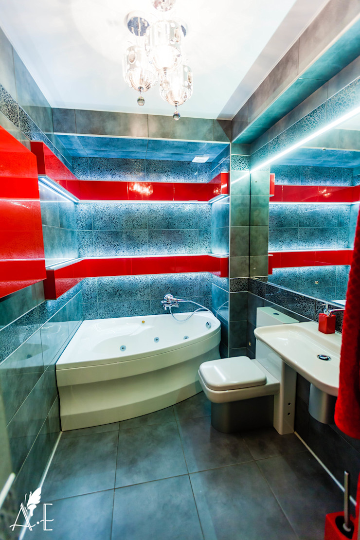 Apolonov Interiors Baños minimalistas