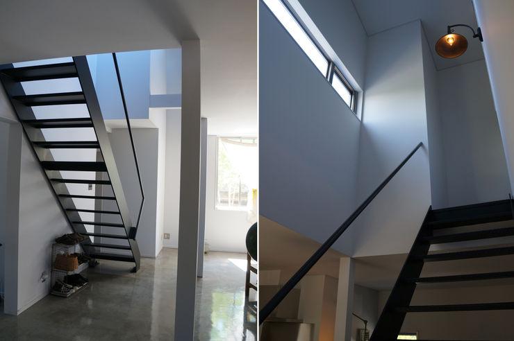 さくま建築設計事務所 Industrial style corridor, hallway and stairs