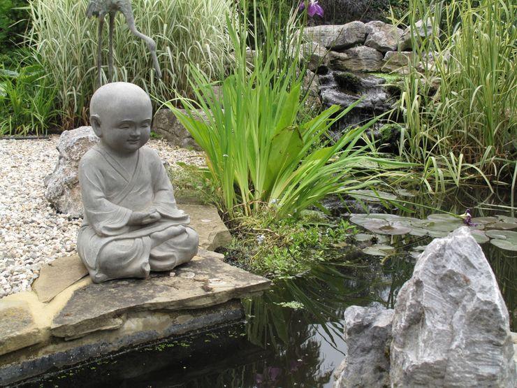 Country Family Garden With Oriental Water Garden Cherry Mills Garden Design Asian style gardens