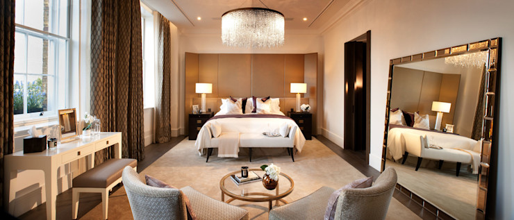 Project 4 Connaught Place, Marble Arch Flairlight Designs Ltd BedroomLighting