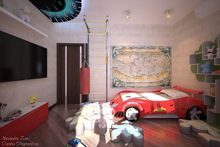 Студия интерьерного дизайна happy.design Dormitorios infantiles de estilo moderno