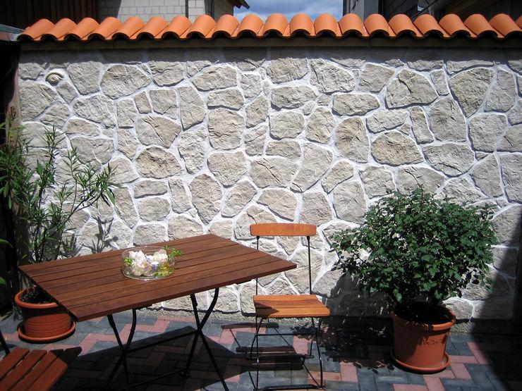 Mönch Nonne Halbschale Teja Curva Rimini Baustoffe GmbH Mediterraner Garten