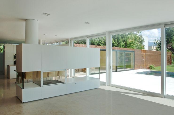 Früh Architekturbüro ZT GmbH Living roomFireplaces & accessories