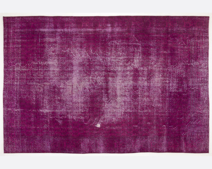 Vintage Handmade Over-dyed Rug In Fuchsia 005 All the hues Living roomAccessories & decoration