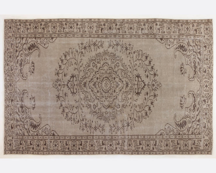 Vintage Handmade Over-dyed Rug In Brown All the hues Living roomAccessories & decoration