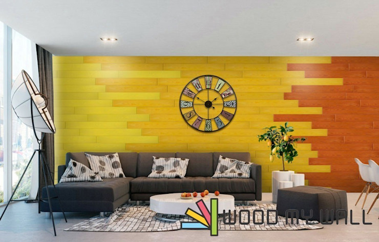 WoodMyWall Kendinden Yapışkanlı Duvar Kaplama Panelleri WoodMyWall Modern Duvar & Zemin