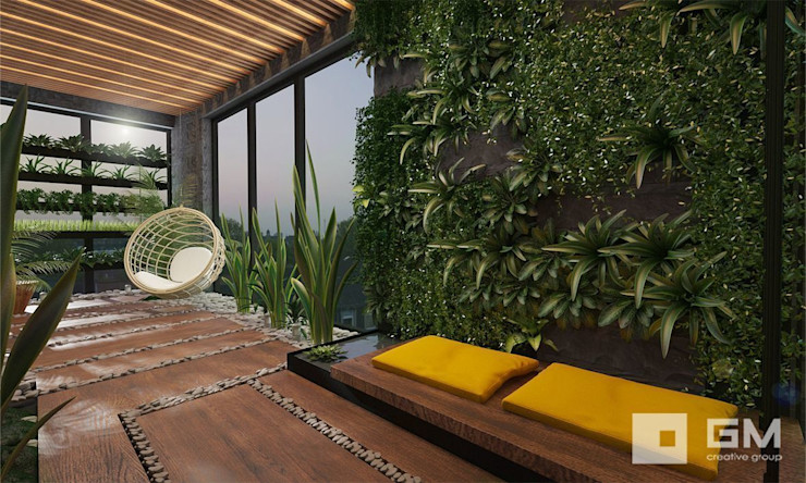 GM-interior Eclectic style conservatory