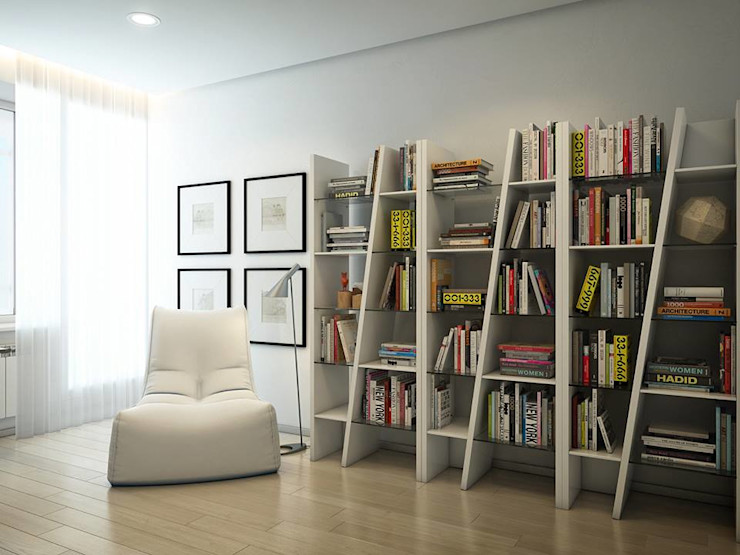 Apartment in Tomsk EVGENY BELYAEV DESIGN Eclectic style study/office