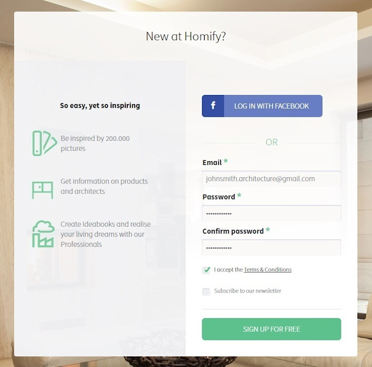 2. How do I sign up as a professional? homify UK