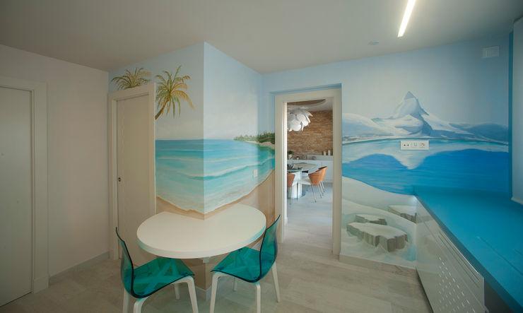 Casa en playa Mediterraneo Artemark Global CocinaMesas, sillas y bancos