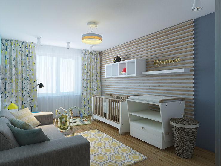 olegkurgaev design Dormitorios infantiles de estilo escandinavo