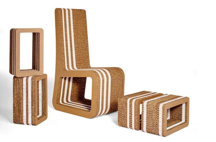 Stripe Collection Origami Furniture Paesaggio d'interni