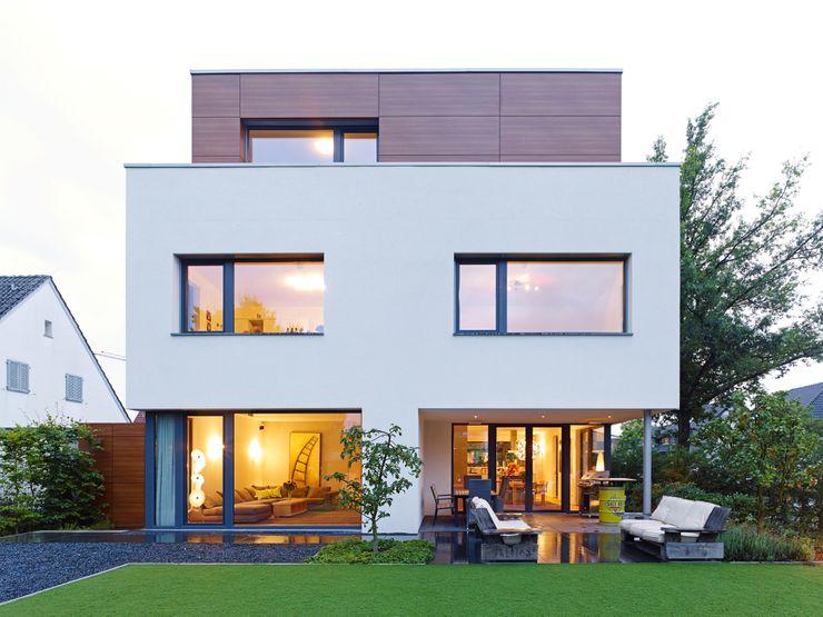 Gartenansicht bdmp Architekten & Stadtplaner BDA GmbH & Co. KG Moderne Häuser