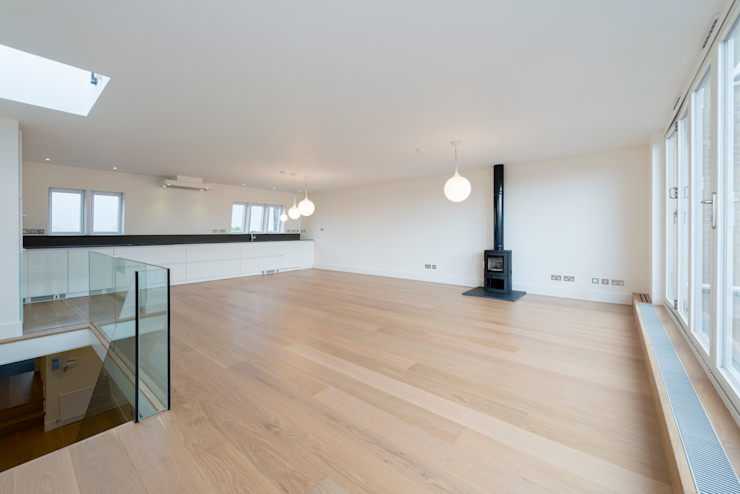 Open Plan living room DDWH Architects Minimalist living room