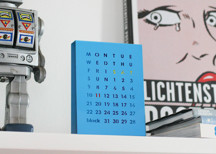 Perpetual Calendar Block Design Office spaces & stores