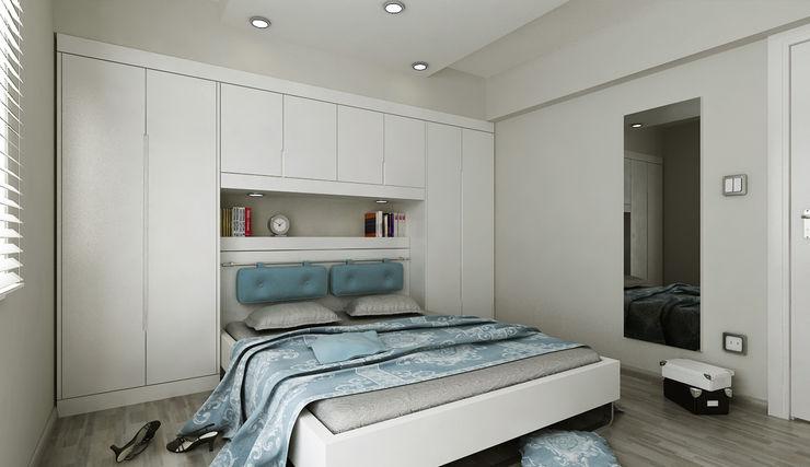 N.Ö. EVİ Niyazi Özçakar İç Mimarlık Modern Yatak Odası
