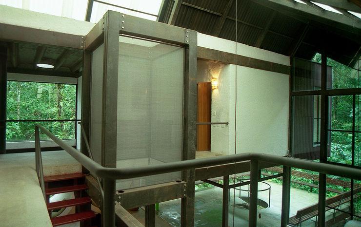 ARQdonini Arquitetos Associados Tropical style corridor, hallway & stairs
