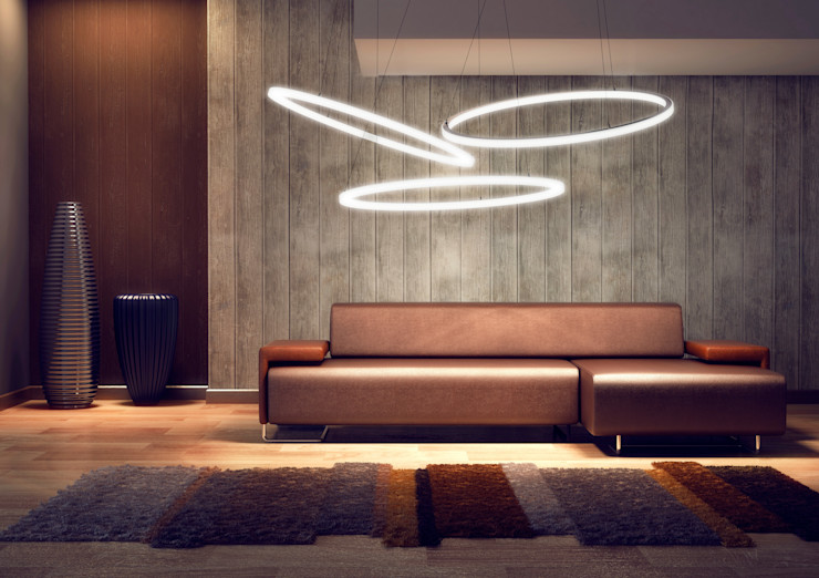LED-Ringleuchte TheO - per App steuerbar und dimmbar Lichtmanufaktur leuchtstoff*, Lichtdesigner Stefan Restemeier, MA Arch WohnzimmerBeleuchtung